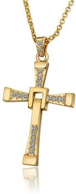 Aaishwarya Fast & Furious Cross Crystal Alloy Pendant
