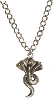 Sullery Cubic Zirconium Crystal Om Shivling And Trishul Moon Locket With Brass Chain Pendant Necklace Crystal, Zinc, Alloy, Brass Pendant