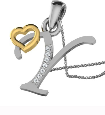 Kataria Jewellers Letter Y 14Kt BIS Hallmarked Gold Alphabet Initial White Gold Plated 14kt Diamond Yellow Gold Pendant at flipkart