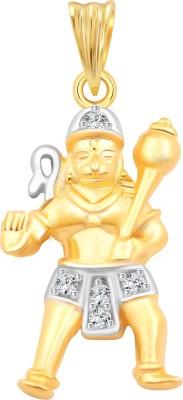 Vighnaharta Lord Maruti 18K Yellow Gold Cubic Zirconia Alloy Pendant
