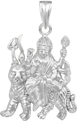 The Marketvilla Sherawali Ambe Maa Durga Ma Laxmi Maata Trishul Goddess Rhodium Plated Devi God Locket For Man Woman Boys & Girls Rhodium Cubic Zirconia Silver, Sterling Silver Pendant