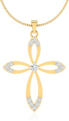 IskiUski  Virtuous 14kt Swarovski Crystal Yellow Gold Pendant(Yellow Gold Plated) at flipkart