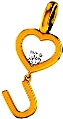 Gunjan Diamond Love Forever 18K Yellow Gold, Rhodium Diamond Gold