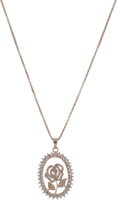 One Stop Fashion Elegant And Traditional Floral Pendant With Gold Colour Alloy Pendant at flipkart