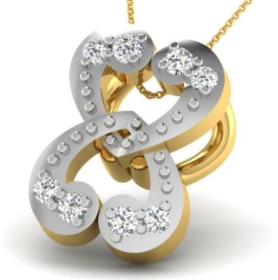 His & Her HHP9837 18kt Diamond Yellow Gold Pendant(Yellow Gold Plated) at flipkart