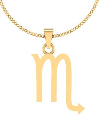 IskiUski Vrishchak Zodiac 14kt Yellow Gold Pendant