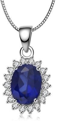 SilverDew Sterling Silver Jewel Set(Blue)