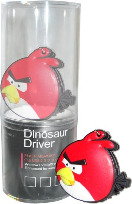 Dinosaur Drivers Red Angry Bird 16  GB Pen Drive Multicolor