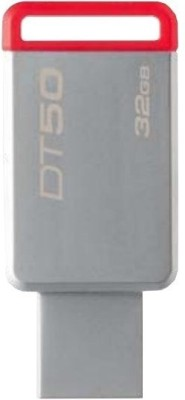Kingston USB 3.0 Data Traveler 50- 32 GB Pen Drive(Grey) at flipkart