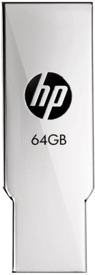HP V237W 64 GB Pen Drive(Silver)