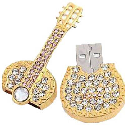 Microware-Guitar-Shape-Golden-Jewellery-Designer-4-GB-Pen-Drive