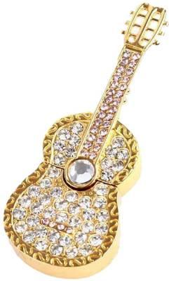 Microware Guitar Shape Golden Jewellery Designer 4 GB Pen Drive Image