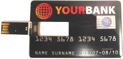 Microware Credit Card Shape Designer 4 GB Pen Drive Image