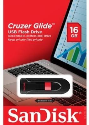 SanDisk Cruzer Glide CZ60 16  GB Pen Drive Black SanDisk Pen Drives