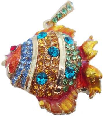 Microware Golden Fish Shape Jewellery Designer Pen Drive 4 GB (Golden) Image