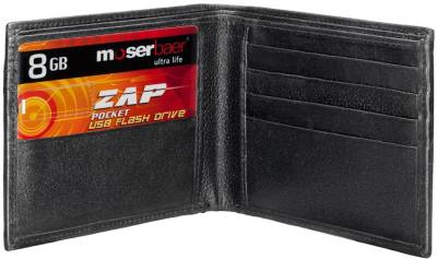 Moserbaer Zap Credit Card Shape 8 GB  Pen Drive (Red)