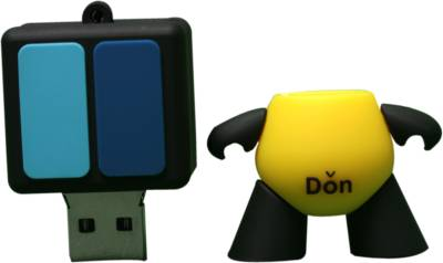 The Fappy Store Yellow Don Hot Plug And Play 4 GB Pen Drive