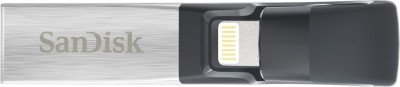 SanDisk iXpand Flash Drive 32 GB OTG Drive(Silver, Type A to Lightning) at flipkart