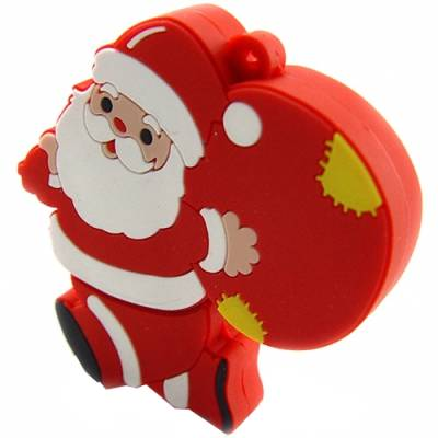 Microware Santa Claus With Gift Shape 4 GB Pen Drive Image