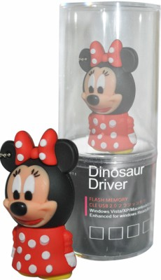 Dinosaur Drivers Mickey Mouse 8 GB Pen Drive(Red)