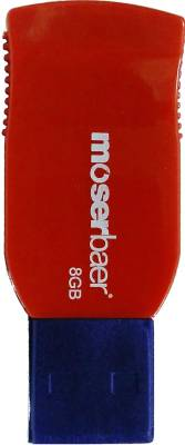 Moserbaer Racer 8 GB  Pen Drive (Red, Blue)