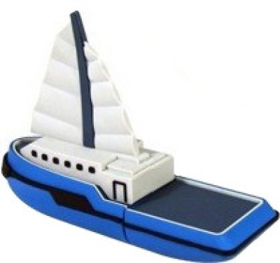 Microware Boat Yacht Ship Shape 16  GB Pen Drive microware Pen Drives