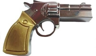 Microware Gun Golden Metal Shape 8  GB Pen Drive