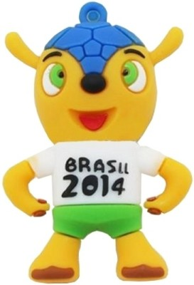 Microware Brasil 2014 Shape 16  GB Pen Drive Microware Pen Drives