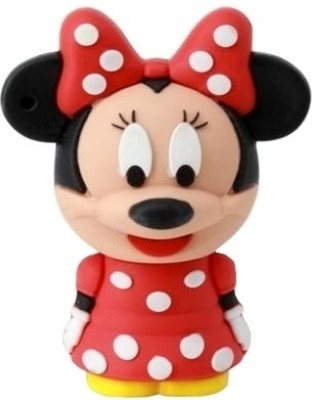Microware Minnie Mouse Shape 16  GB Pen Drive Microware Pen Drives