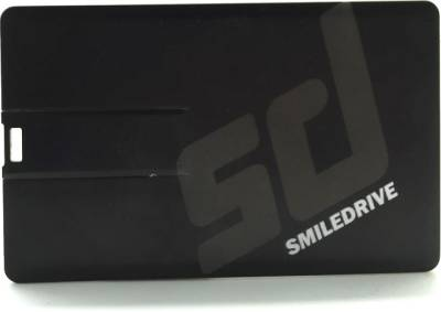 Smiledrive Credit Card Shape 16 GB Pen Drive (Black)