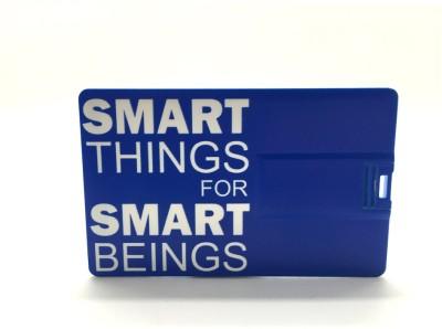 Smiledrive Credit Card Shaped 8 GB Pen Drive(Blue)