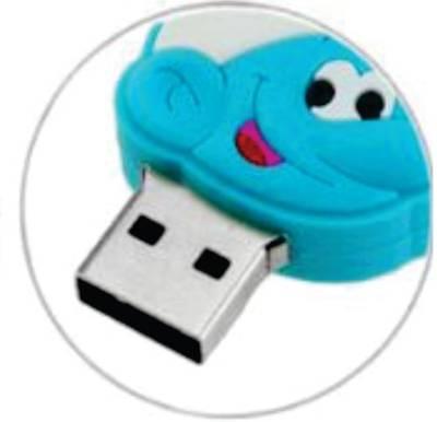 Microware-16GB-Smiley-Smurf-Shape-Pen-Drive