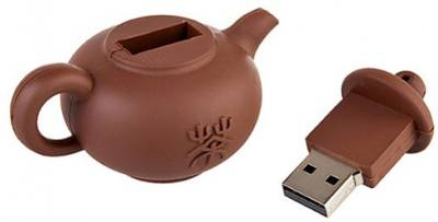 Microware-16GB-TeaPot-Brown-Shape-Pen-Drive