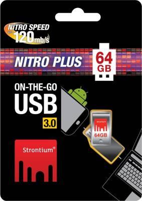 Strontium Nitro Plus 64 GB  Pen Drive (Silver)