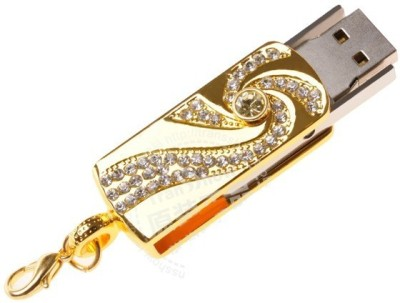 Microware Golden Crystal 16  GB Pen Drive Multicolor