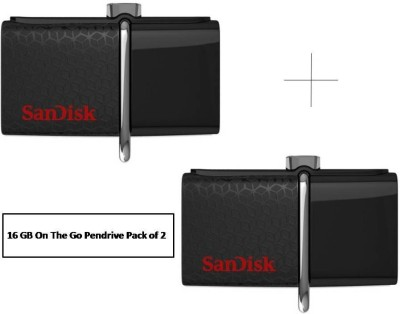 SanDisk On-The-Go ( Combo ) 16 GB Pen Drive(Black)