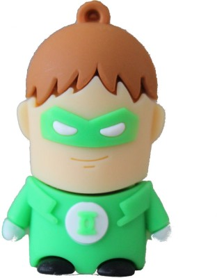 Quace Green Lantern 8  GB Pen Drive Multicolor