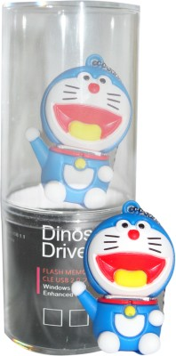 Dinosaur Drivers Doremon 16  GB Pen Drive Multicolor