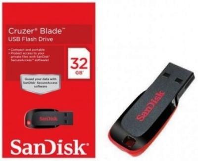SanDisk (PACK OF 2) 32 GB Pen Drive(Black, Red)