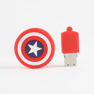 Microware Captain America Star Shape 16 GB Pen Drive