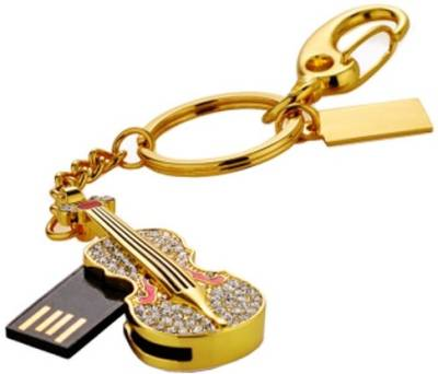Microware Golden Guitar Shape 16 GB  Pen Drive (Gold)