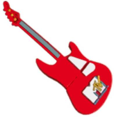 Microware Guitar Red Shape Designer 4 GB Pendrive Image