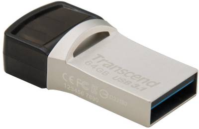 Transcend JetFlash 890s 64GB OTG Pen Drive Image
