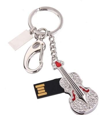 Microware Silver Violin 8  GB Pen Drive