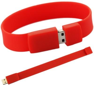 Perky Perky Bracelet USB Pen Drive 8 GB Pen Drive(Red) at flipkart