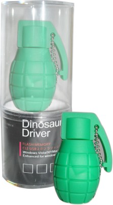 Dinosaur Drivers Green Atom Bomb 8  GB Pen Drive Multicolor