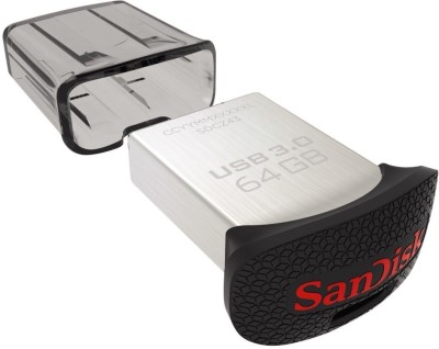 SanDisk SDCZ43-064G-G46 64 GB Pen Drive(Silver & Black)  available at flipkart for Rs.1875