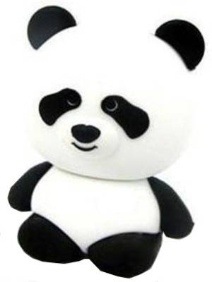 Microware-Panda-Rubber-Shape-Designer-8-GB-Pendrive
