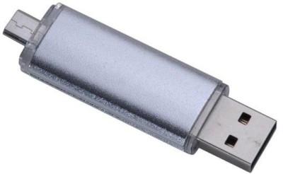 Eshop 2 in 1 OTG Micro USB Flash Drive 8   GB OTG Drive Silver, Type A to Micro USB