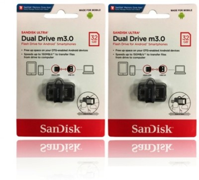 SanDisk ultra dual drive SDDD3-32GB-i35 32 GB OTG Drive(Multicolor, Type A to Micro USB) at flipkart